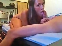 Brunette College Friend Lost A Bet And Gives A Surprise