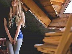 Pretty Blonde Teen Anjelica Finger Fucks Until She Squirts