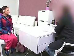 Brunette Amateur Fucked Leaned On A Desk In Office